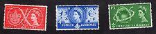 1957 World Scout Jubilee Jamboree SG 557 to 559 set MNH R15373