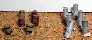 6-barrels-wooden-style-amp-6-milk-churns-N-Scale-Unpainted-Langley-A35