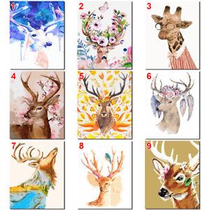 Deer-Animal-DIY-Paint-By-Number-Kit-Digital-Oil-Painting-Art-Wall-HomeRoom