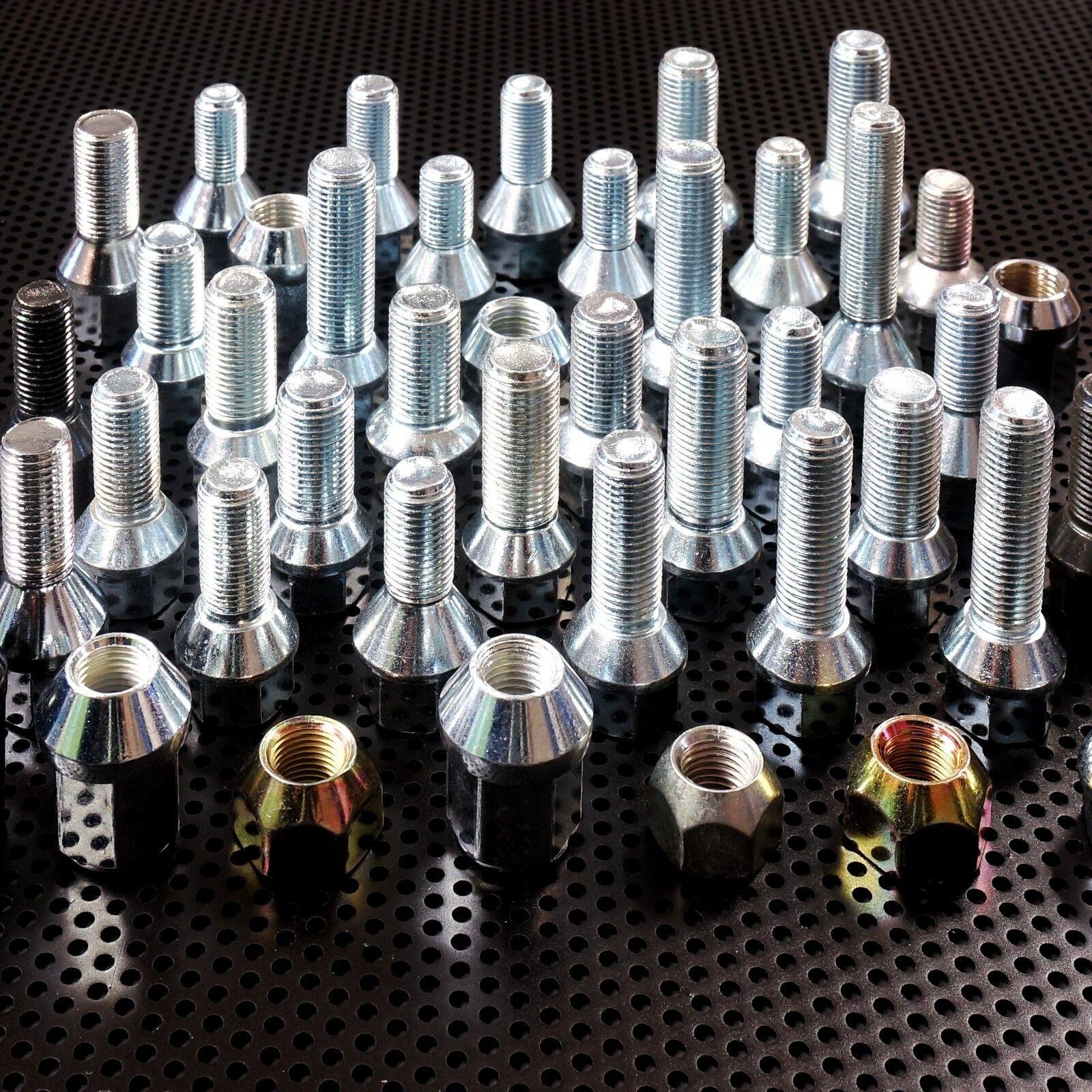 Radschrauben Radbolzen M12 x 1,5 1,25 Kugel Kegelbund für Alufelgen Stahlfelgen