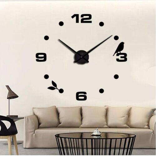Wall Clock Living Room Wall Tattoo Design Bird Deco XXL 3D