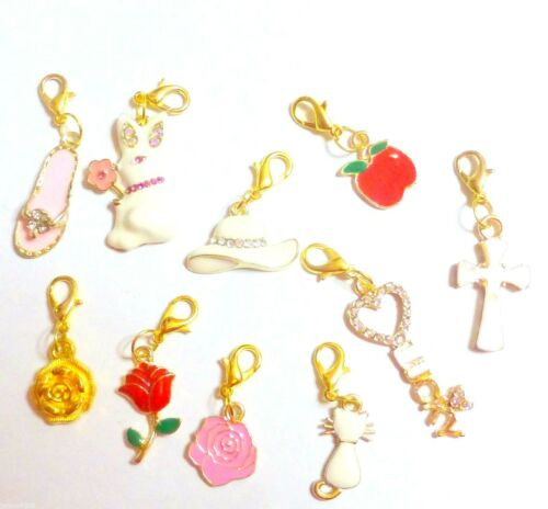 Enamel Gold Plated Clip-on European Charm Select from drop-down menu