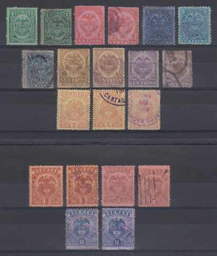 COLOMBIA 1890-99 Sc 142-147, 144a, 146a 162-165 (20x) SETS SHADES MINT/USED €37+