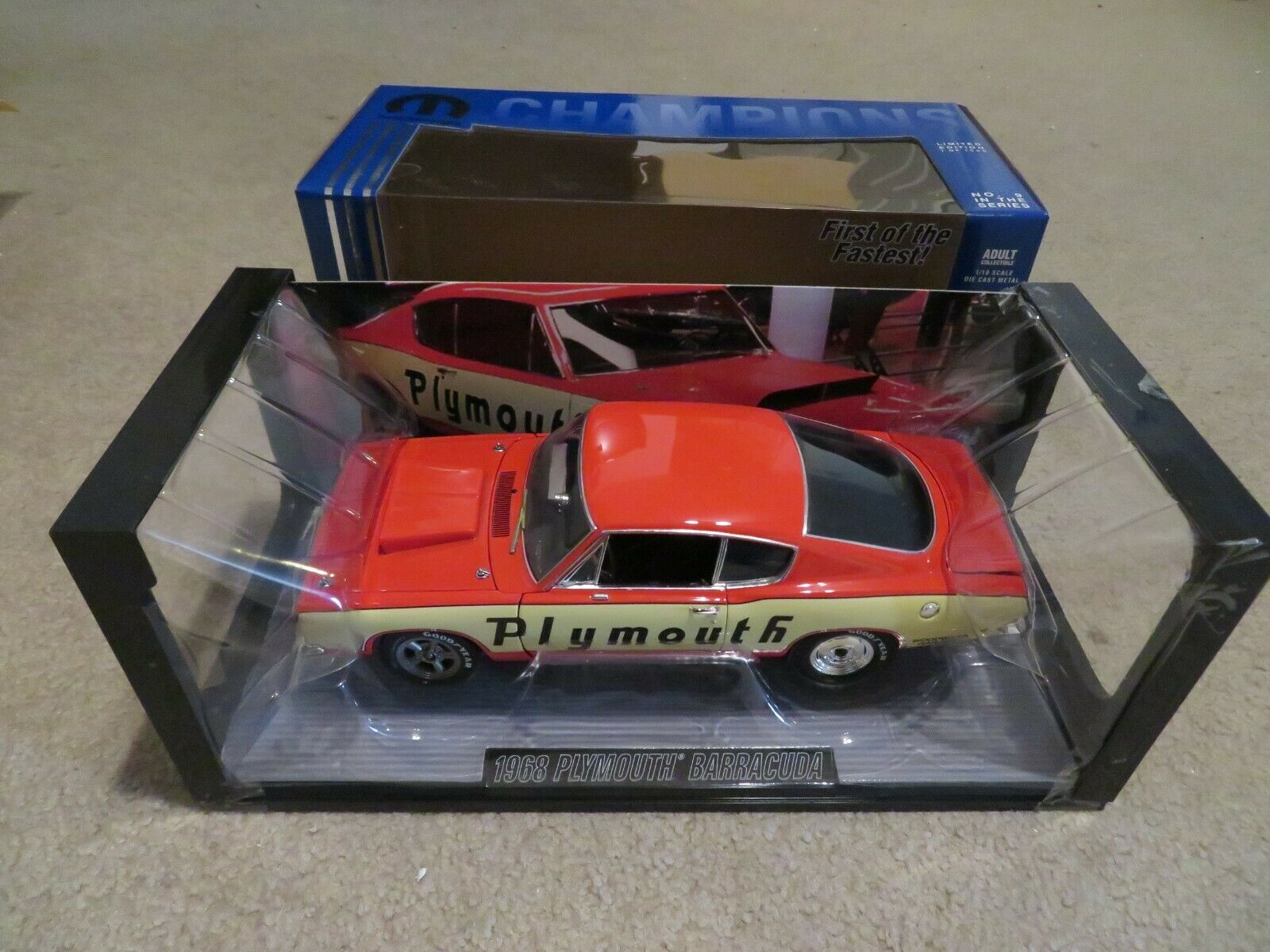 descuento online Die Cast Promotions Campeones Campeones Campeones 1968 Plymouth Barracuda Hemi mula coche 1 18 2005  moda