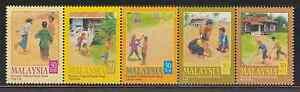 257-MALAYSIA-2000-CHILDREN-039-S-TRADITIONAL-GAMES-I-SET-FRESH-MNH