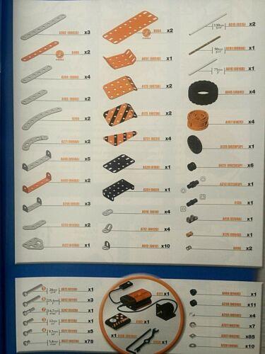 """0111c zinc 3//8/"""" 9.5 mm hex Bolt 50 Part# A511 MECCANO PARTS NEW Lot"""