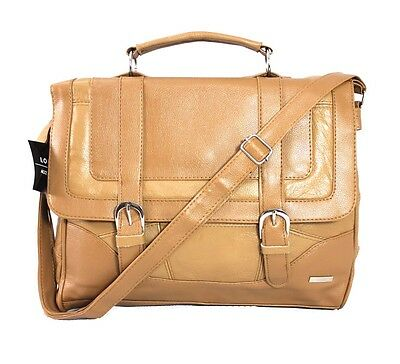 Lorenz Cowhide Genuine Real Leather Briefcase Satchel Shoulder Office Handbag