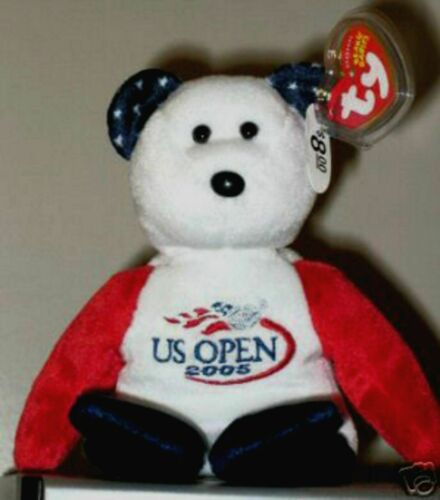 US OPEN Version Exclusive MWMT Ty Beanie Baby 9 Inch SMASH the Tennis Bear