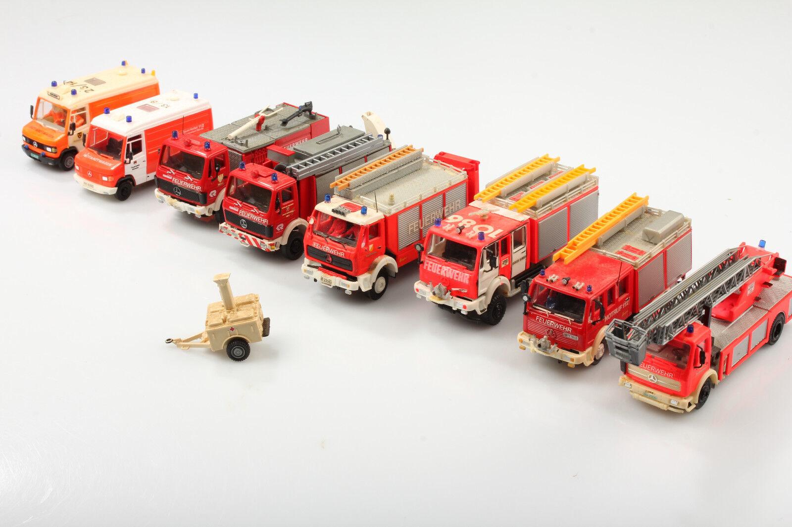 H0 Fire Brigade Set   Sale color Change Dieselfahrverbot   Dirt  Scratches