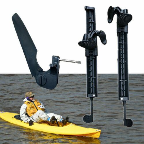 Boat Adjustable Kayak Canoe Rudder Control Footrest Foot braces Pegs Pedals Kit