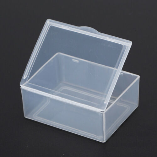 5x Clear Transparent Plastic Storage Box Collection Container Case Part  F2