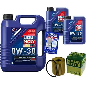 Inspection-Kit-Filter-LIQUI-MOLY-Oil-7L-0W-30-for-Volvo-V50-Mw-2-0-D-V70-III-Bw