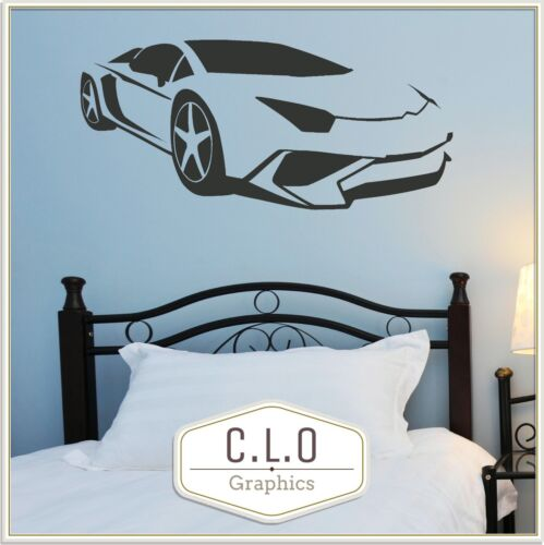 Racing Car Wall Sticker Art Transfer Big Vinyl Decal Boys Room Graphic Sports UK