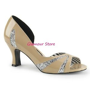 46 'Check ᄄᄂ 7 Heel 39 Sexy Decolte chaussures glamour 5 crᄄᄄmeargent Glitter kPXZTlwOiu
