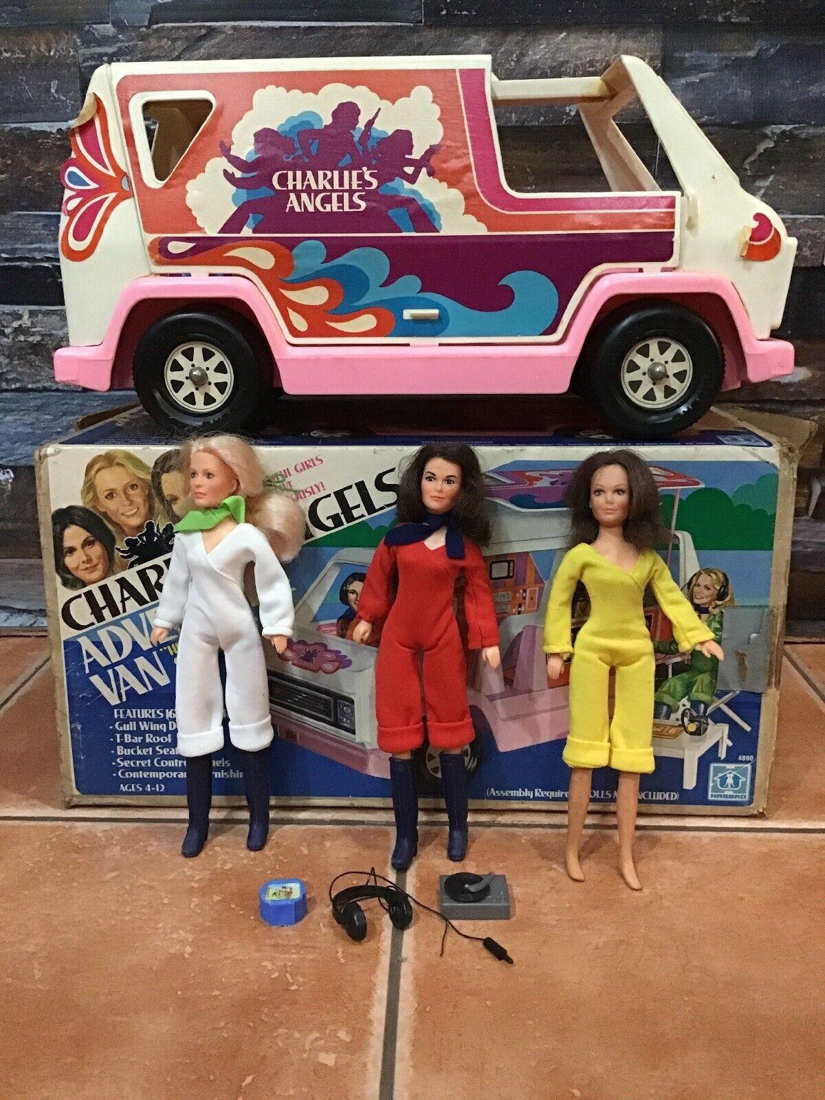 1978 Hasbro Charlie's Angels Adventure Van W  Original Box & 3 Action Figures