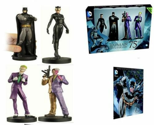 Batman 75th Anniversary Collection Set of 4 Action Figures Joker Toys and Comic