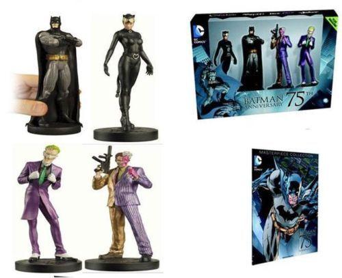 Batman 75th Anniversary Sammlung Set of 4 Wirkung Figures Joker Spielzeugs and Comic