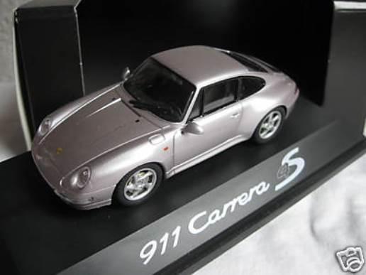 RARO Schuco Porsche 911 993 C4S IAA 1995 PROMO LILLA METALLIZZATO 1:43 Nuovo di zecca con scatola