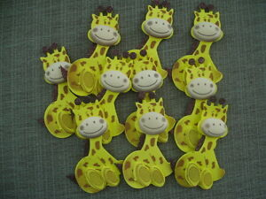 "10 PCS Baby Shower/Birthday 4"" Glittery Giraffe Foam Animals Favors/Crafts"