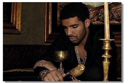 Poster Drake Rapper Pop Singer Star Room Club Art Wall Cloth Print 504