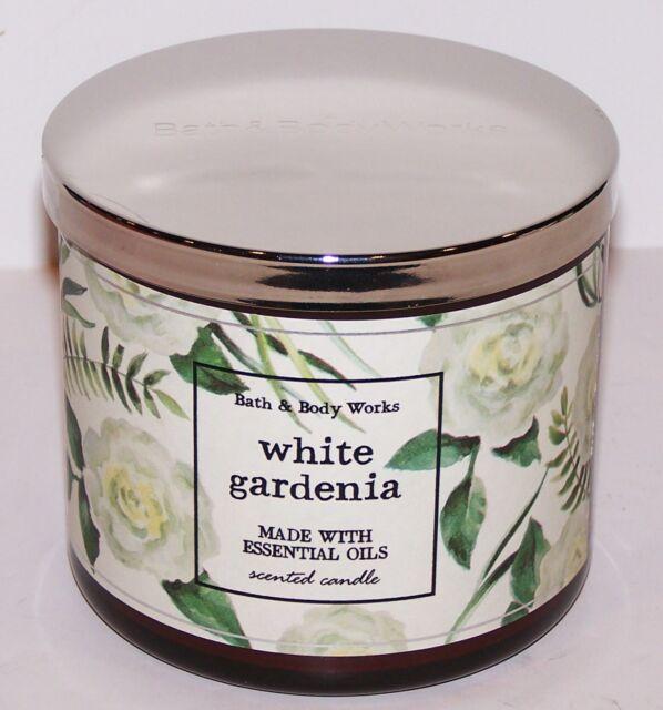WONDERFUL BATH & BODY WORKS WHITE GARDENIA 3-WICK SCENTED 14.5 OZ CANDLE