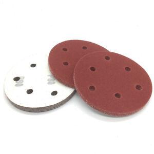 "9/"" 223mm 6 Holes Sandpaper 60-1200 Grit Hook Loop Sand Paper Sanding Discs Car"