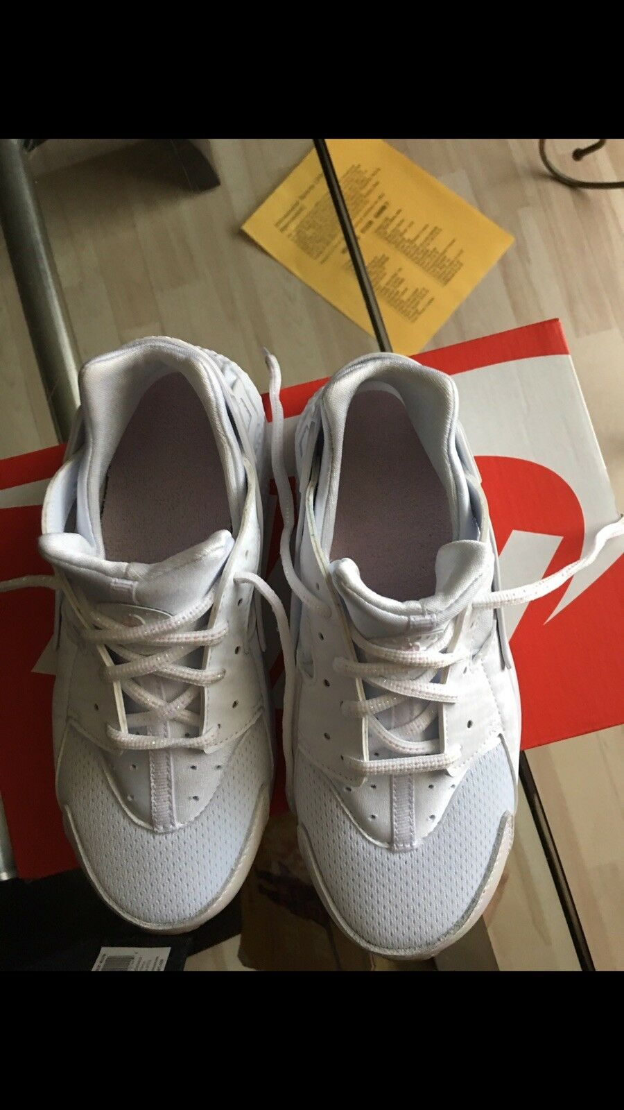 Nike air huarache all all all white size 3 be47af