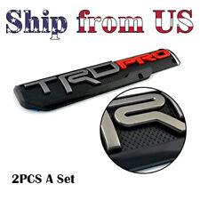 2x Trd Pro Off Road Sport Side Door Emblem Sticker Badge For Tacoma Truck Bed Fits Toyota