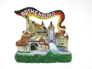 Rothenburg-ob-der-Tauber-Souvenir-Magnet-Poly-Fridge-Germany-Deutschland-Neu