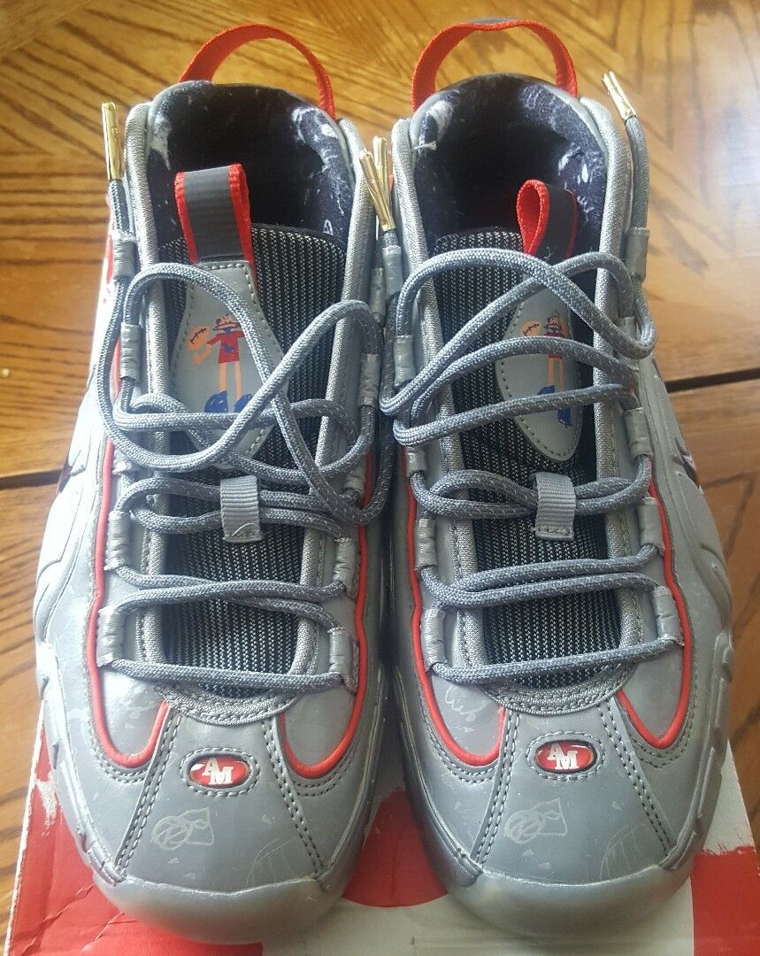 Nike Air Max Penny 1 DB Size 5.5 youth Doernbecher 95, 97 San Fran, 49ers Used..