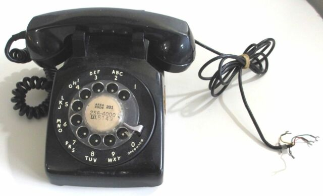 Vintage Bell System Telephone Black Rotary Dial Phone