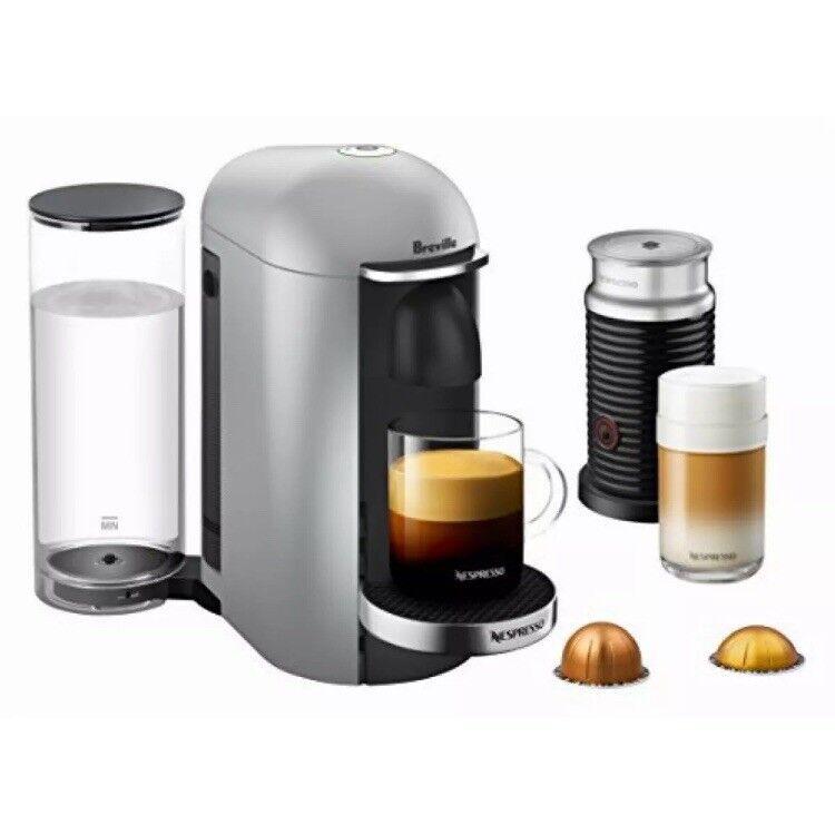 Nespresso Vertuoplus Argent DELUXE BUNDLE par Breville Neuf Sous Emballage Neuf avec étiquettes non ouvert neuf