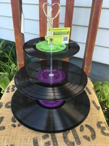 change etc One of a kind by GmaJanisew vinyl record tier-for cupcakes jewelry