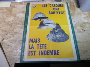 Affiche-Serigraphie-Prevention-Securite-accident-50-039-s-AINF-RARE-WW2-WWII