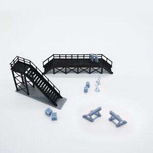 Outland Models Modelleisenbahn Wartungszubehör Puffer Plattform Ölfass.. Spur N