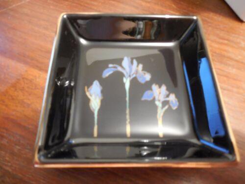 "OTAGIRI  ~ Blue Iris ~ Pin Dish ~ Vintage ~ Discontinued ~ 3.5/"" x 3.5/"""