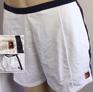Vintage Nike Shorts Tennis Andre Agassi Retro Court Logo Women L 12 ... a2b55da53