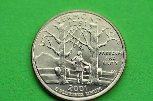 2001-P  BU Mint State Statehood  US Quarter VERMONT