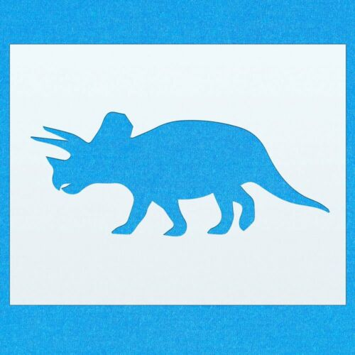 Triceratops Dinosaur Shape Mylar Airbrush Painting Wall Art Stencil two