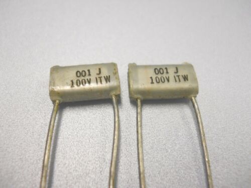 QTY 20 ea P511 NOS, New Old Stock .001 uF 100 Volt Polystyrene Capacitor