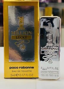 Details about Paco Rabanne 1 ONE MILLION LUCKY EDT Men 0.17 Oz 5 Ml Splash Mini New In Box