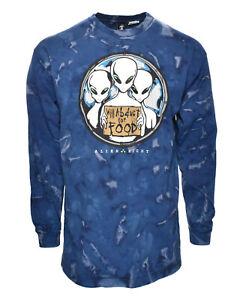 Vintage-Alien-Eight-Will-Abduct-For-Food-90-039-s-UFO-Tie-Dye-Glow-Dark-Tee-Shirt-XL
