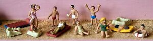 Beach-Lilo-Sandcastle-F192-UNPAINTED-OO-Scale-Langley-Models-Kit-People-Figures