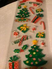 NEW 7 pc MERRY CHRISTMAS Xmas Stocking Santa Gift 3D Stickers SOFT SPOKEN  MAMBI