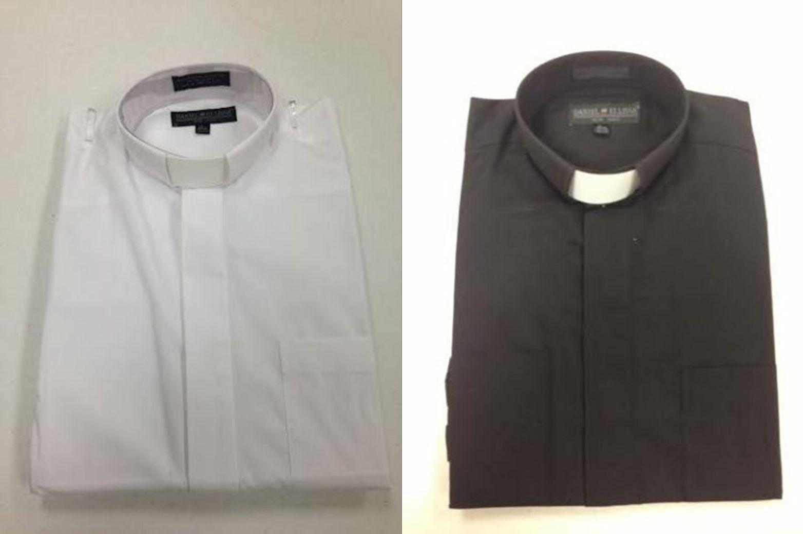 Mens Preacher Tab Collar Clergy Shirt White 16 12 Short Sleeves Ebay