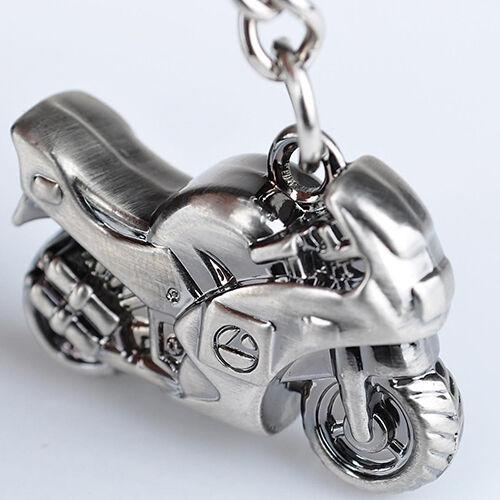 HK- Metal Motorcycle Key Ring Keychain Creative Gift Sports Keyring New G53