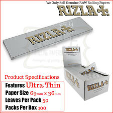 Rizla Silver Ultra Thin Regular Size Cigarette Rolling Papers -100 Packs Per Box