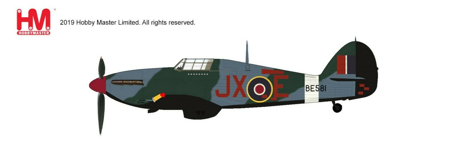 Hobby Master HA8699, Hawker Hurricane Iic  Night Reaper  JX-E BE581, No.1 Sqn., 1