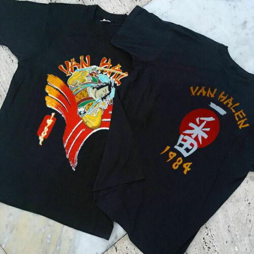 New VAN HALEN 1984 SAMURAI TOUR Black Men s T shirt SS