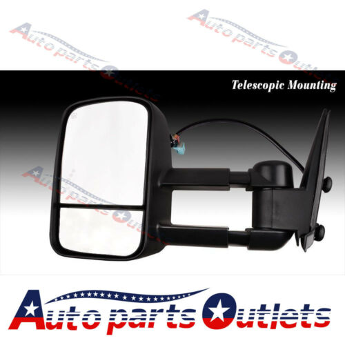 LEFT+RIGHT 03-06 Silverado Power+Heated Smoke LED Signal Telescoping Tow Mirrors